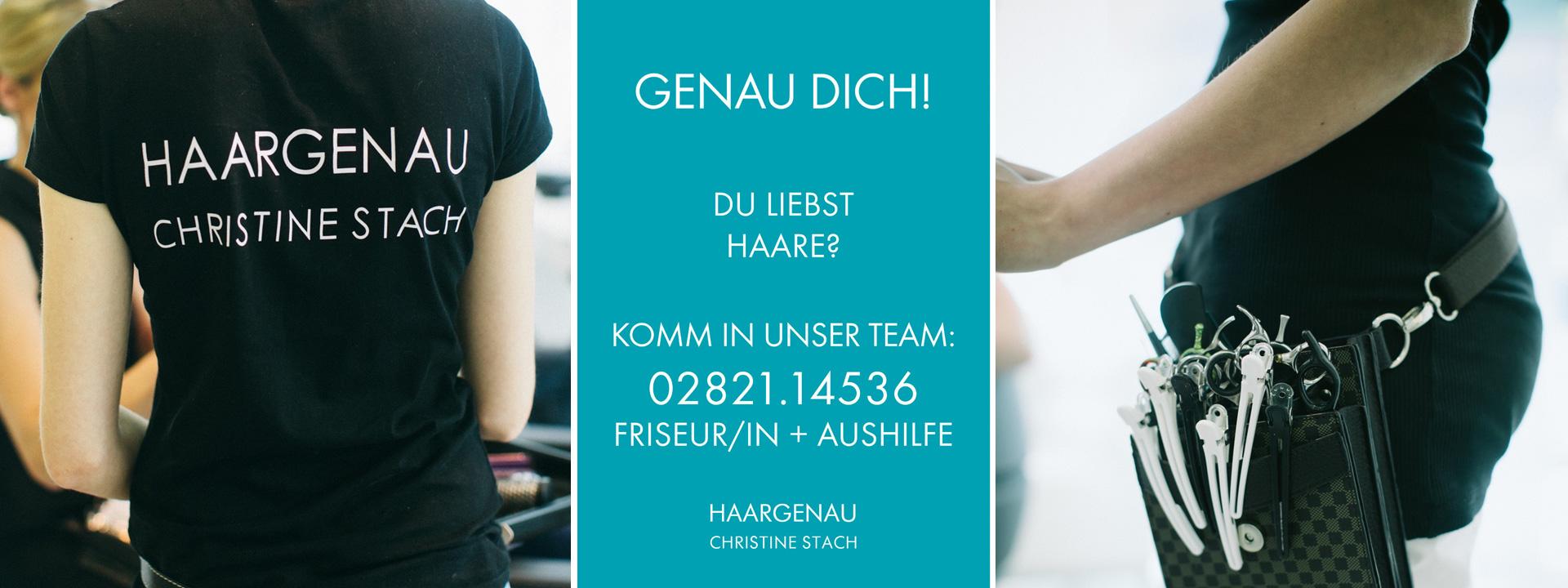 Jobs Friseur/in + Aushilfe gesucht, Haargenau, Christine Stach, Hafenstr. 2, 47533 Kleve